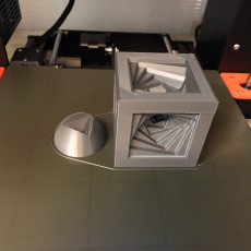 Picture of print of Spiral Cube