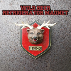 WILD BEER fridge magnet or wall mount