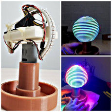 POV (Persistence of vision) 360 LED Globe Display V1