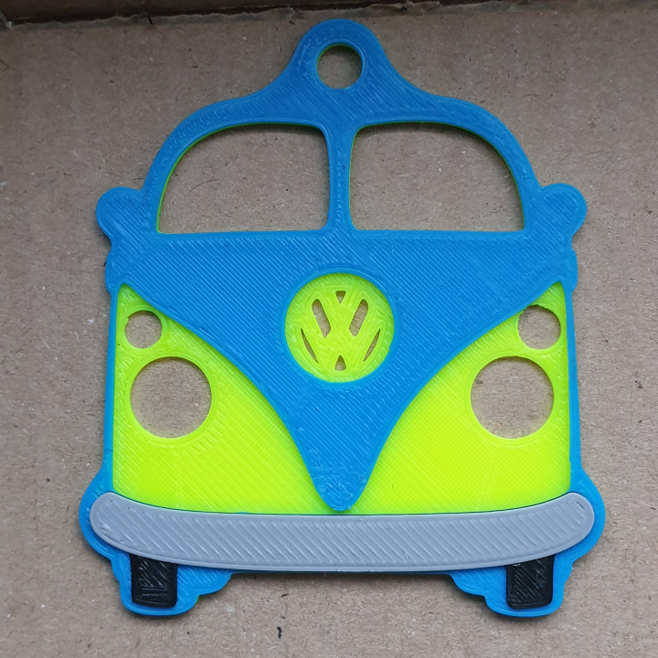 VW Camper Split Screen Keyring