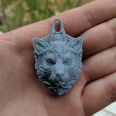 Ornate Wolf pendant