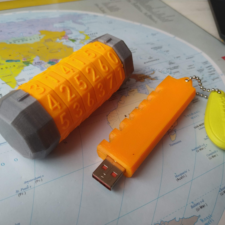 USB Cryptex with 6 numbers
