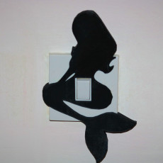 Mermaid light switch cover