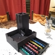 Picture of print of Magnetic Dice Box, Tray, and Tower