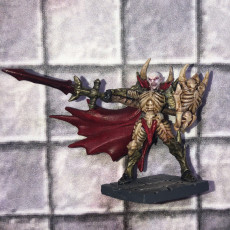 Picture of print of Drakenmir the Bonelord - Soulless/Vampire Necromancer Hero