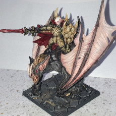 Picture of print of Drakenmir on Bloodhunter - Soulless/Vampire Hero on Dire Bat