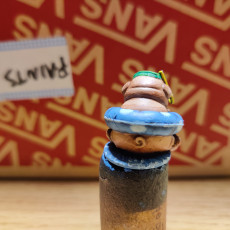 Picture of print of Playful Pug - Snorkel Pug miniature