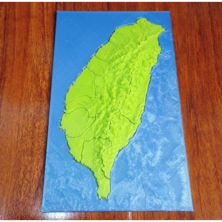 Taiwan elevation model