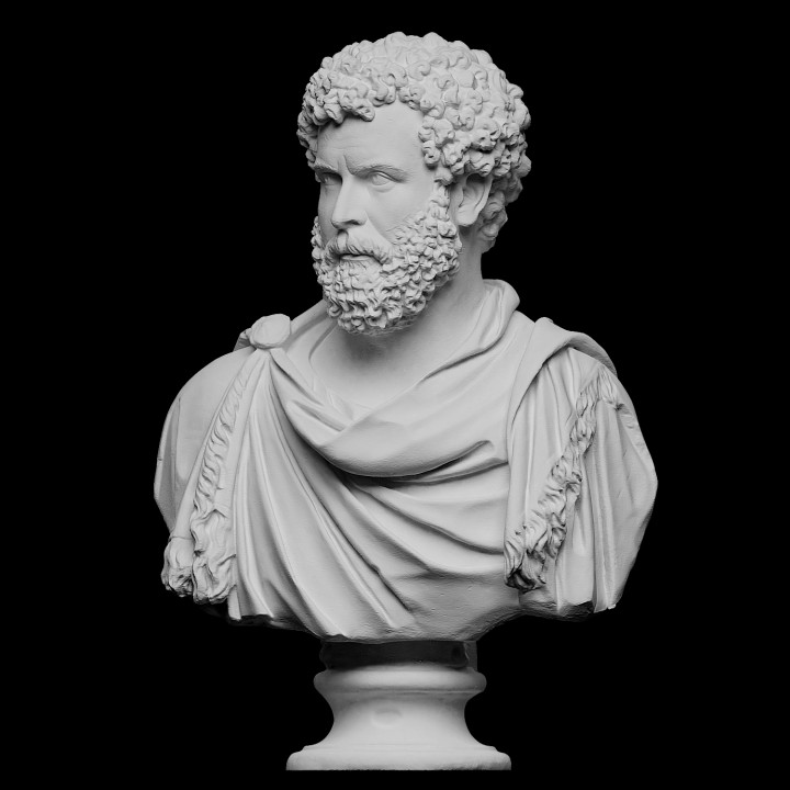 Draped bust of a man, formerly known as Clodius Albinus