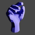 Low-poly hand image
