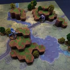Hex Map Hills (Battletech Grasslands #2)
