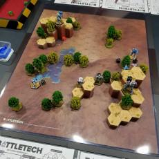 Hex Map Hills (Battletech Desert #2)