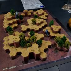 Hex Map Hills (Battletech Desert #3)