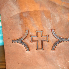 Leather Cross Imprint Stamp
