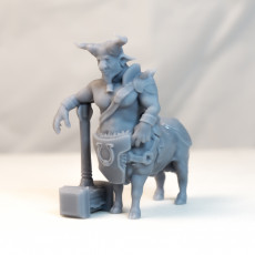 Bull Centaur - DnD Character - 2 Poses