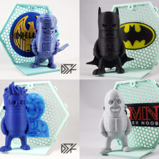 Backdrop for Wexagon - Hexagon Shelfs - Homelander, Batman, 3DPN, 3DMN