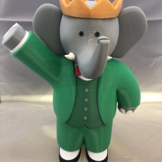 Picture of print of Babar the Elephant