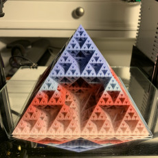 Picture of print of Sierpinski pyramid