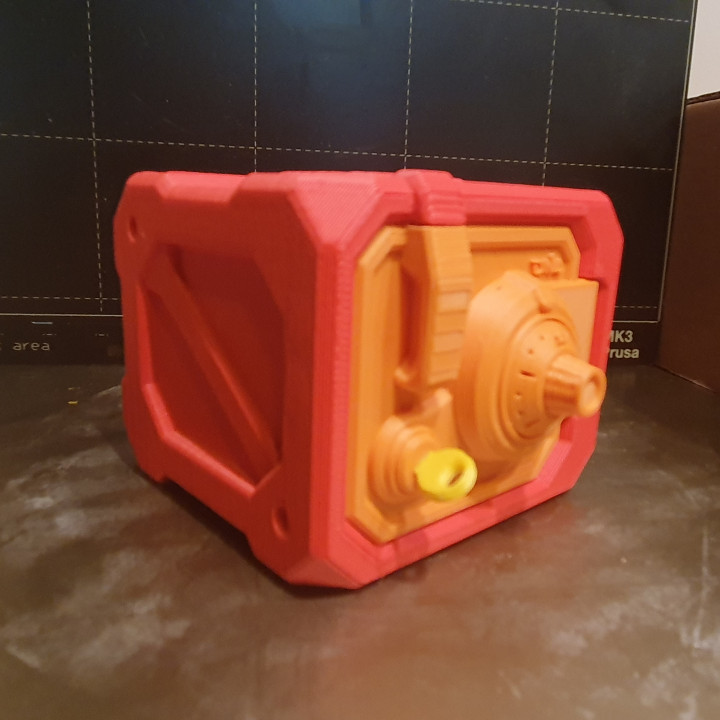 Safe Box with code and key (NO supports)