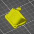 Prusa fan airlet 45 degree with BEAR logo. image