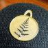 Fern leaf stencil image