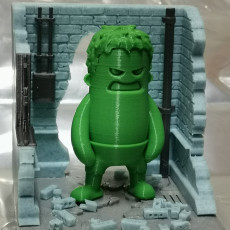 Picture of print of Diorama for Mini Dude - Smash! - Figurine not included