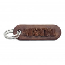 MARTIN Personalized keychain embossed letters