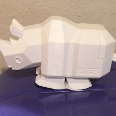Picture of print of Running Rhino