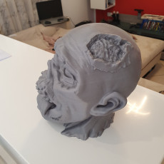 Picture of print of Zombie head