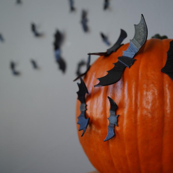 Scary Plate of Bats –Haloween Wall Art