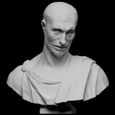 Bust from prophet statue, Lo Zuccone