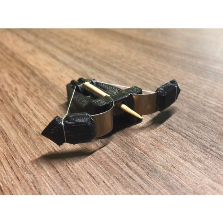 Mini 3D-printable crossbow