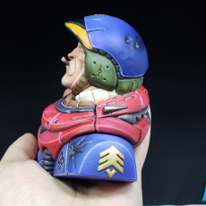 """Picture of print of """"Sarge"""" bust"""
