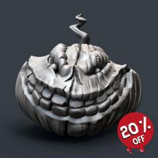 Evil Grinning Pumpkin Head