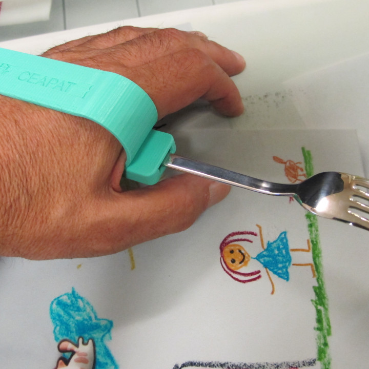 Palmar cutlery clamp/Pinza palmar para cubiertos