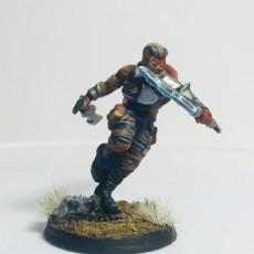 Picture of print of Fantasy Tiefling rogue ninja