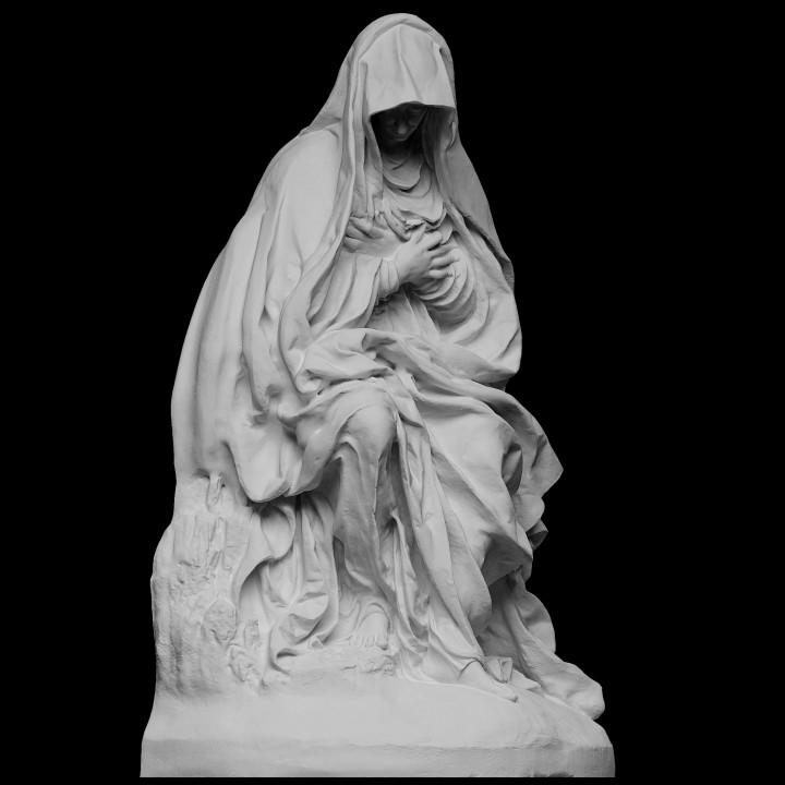 Seated Virgin Mary, Mater dolorosa
