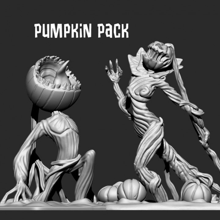 Pumpkin Pack - Screaming Pumpkin & Pumpkin Queen - single and multimaterial