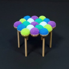 PomPom Chair - 3D Printed Doll Furniture
