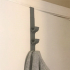 Strong door rack- 3 hooks image