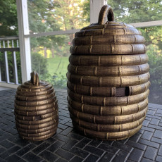 Bee Skep - Geocaching Container