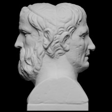 Double Herm of Aristophanes and Menander