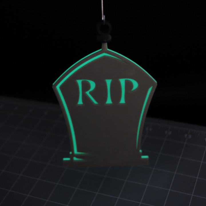 Hanging RIP Tombstone