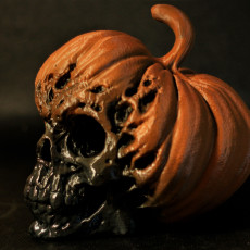 Picture of print of Evil Pumpkin Skulls