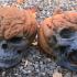 Evil Pumpkin Skulls print image