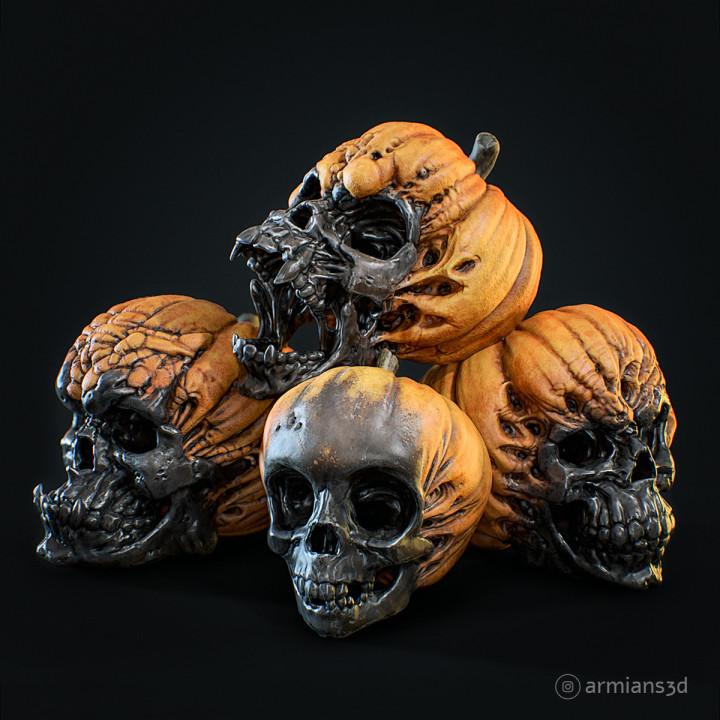 Evil Pumpkin Skulls