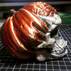 Picture of print of Free Evil Pumpkin Skull Sample