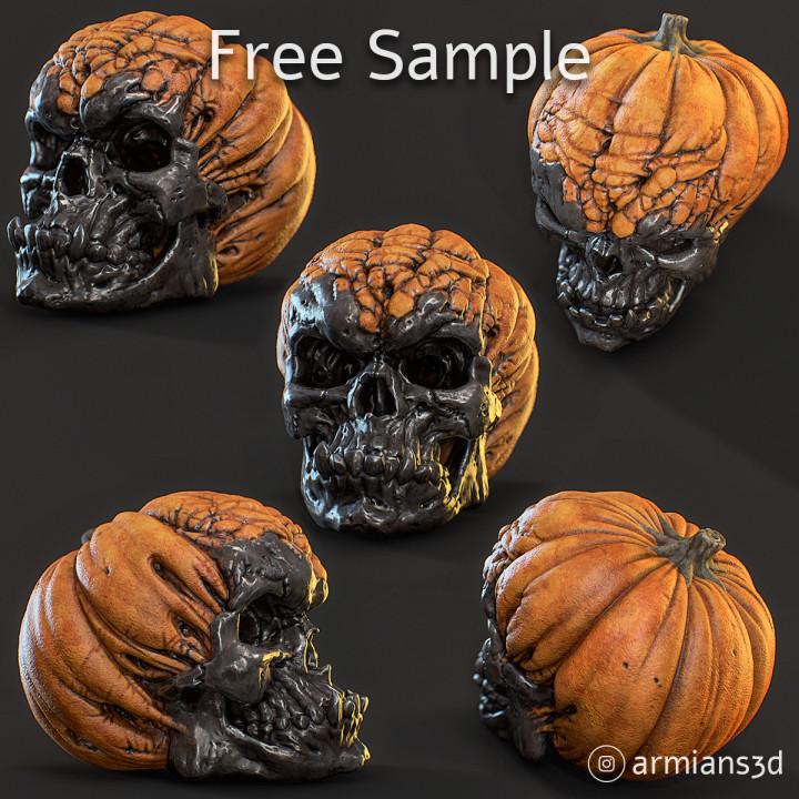 Free Evil Pumpkin Skull Sample