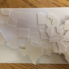 3D United States Population Map