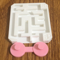 Picture of print of ALMOST IMPOSSIBLE SLIDING MAZE PUZZLE